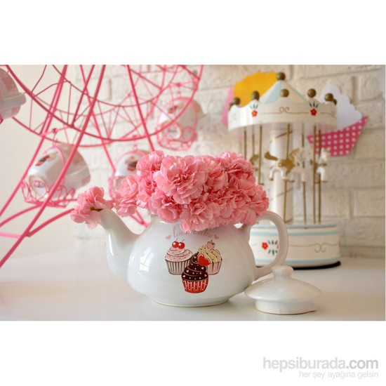 Keramika 1 Parça 9 Cm Pink Cake Demlik