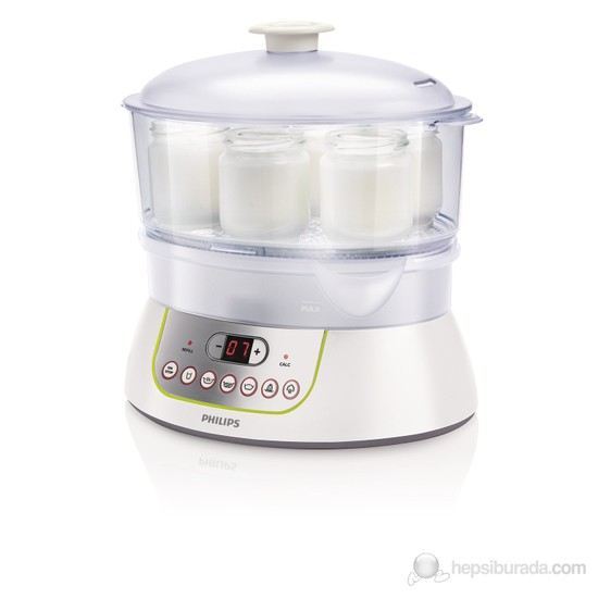 Philips Viva Collection HD9141/00 900 W Buharlı Pişirici ve Yoğurt Yapma Makinesi