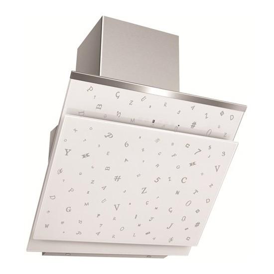 Simfer 8650 Parola Serisi 60 Cm Beyaz Cam Davlumbaz