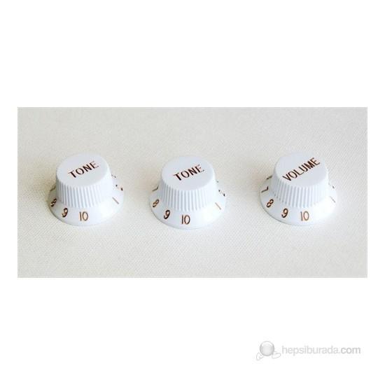 Guitar Tech GT506 Control Knobs Potans Düğmeleri (Beyaz)