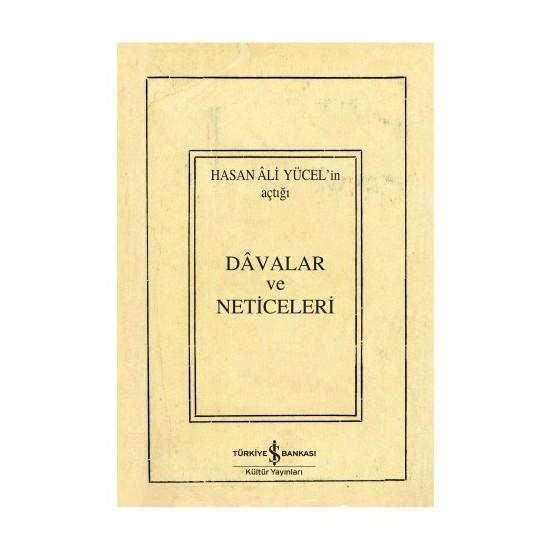 Davalar Ve Neticeleri-Hasan Ali Yücel