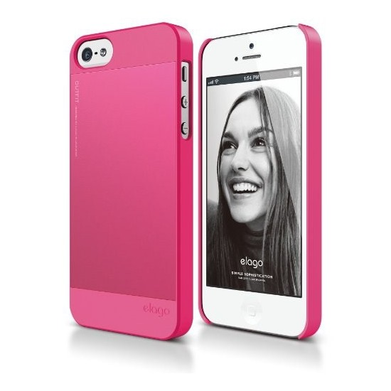 Elago Apple iPhone 5 S5 Outfit Series Pembe (Ekran Koruyucu Hediye)