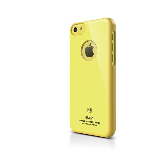 Elago Apple iPhone 5C S5 Slim Fit Series-Sarı (Ekran Koruyucu Hediye)