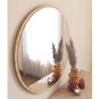 Dekoratif Yuvarlak Ayna Natural Antre Hol Koridor Duvar Salon Mutfak Banyo Wc Ofis Aynası