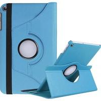 Canpay Samsung Galaxy T290 Uyumlu Kılıf Standlı Pu-Leather Desing Mavi