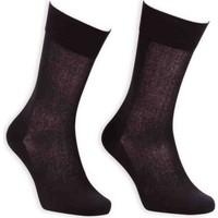 Bordo Cotton Dikişsiz Erkek Çorap SM31007-01   Siyah