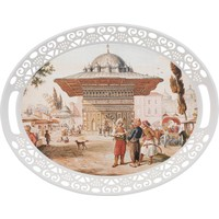Karaca Eski Istanbul Melamin Oval Tepsi 45X35