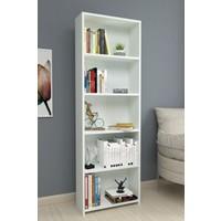 Bofigo Dekoratif 5 Raflı Kitaplık Beyaz