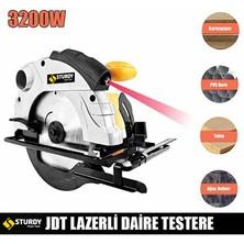 Sturdy Power Tools 3200 Watt Sjs Lazerli Metal Şanzuman Daire Testere Elmas Ağızlı 185 mm Bıçak