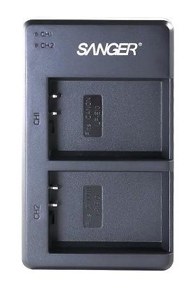 Sanger LP-E10 Canon Ikili USB Şarj Aleti