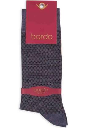 Bordo Bambu Dikişsiz Erkek Çorap EBK1004 | Füme