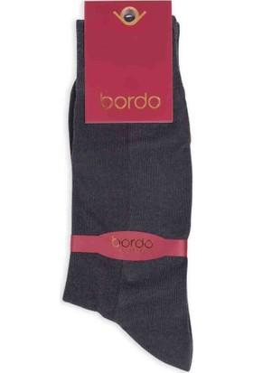 Bordo Cotton Dikişsiz Erkek Çorap SM31007-03 | Füme