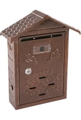 Aksan Akşan Çatılı Posta ve Evrak Kutusu Anahtarlı Bakır