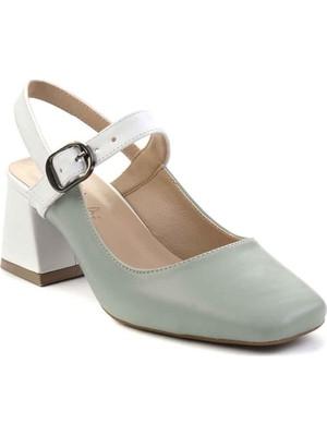 Bambi Su Yeşili Kadın Klasik Topuklu Ayakkabı K01840605009