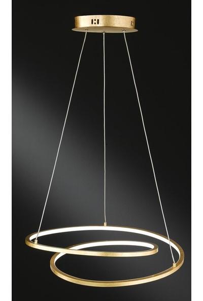 Luence Lundra Sarkıt LED Avize Gold