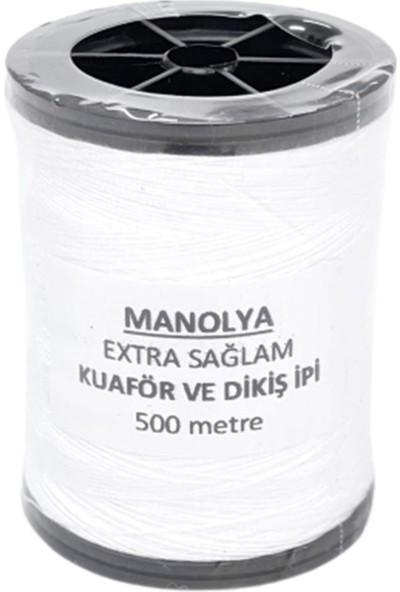 Manolya Ekstra Sağlam Dikiş ve Kuaför Ipi 500M Beyaz 1DNMK03