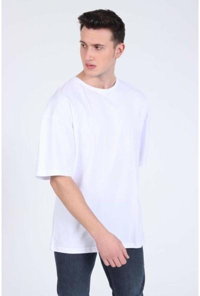 Winner Erkek Oversize Dream Desing Beyaz T-Shirt
