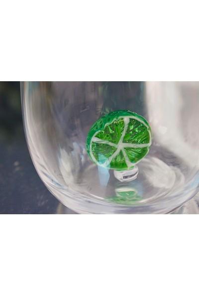 Adamodart Lime & Limon Figürlü 6'lı Su Bardağı
