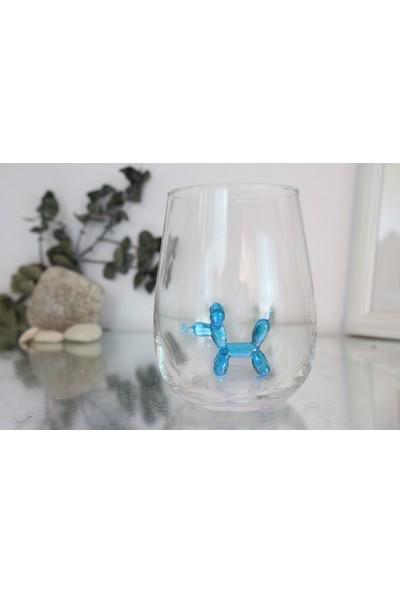 Adamodart Mavi Balon Köpek Figürlü Tekli Su Bardağı