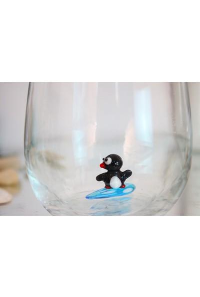 Adamodart Sörfçü Penguen Tekli Su Bardağı