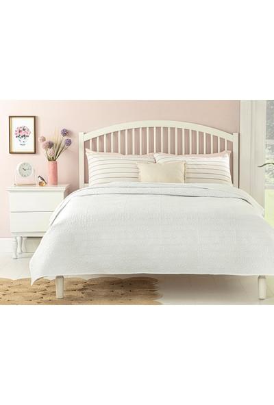 English Home Ivy Chic King Size Çok Amaçlı Yatak Örtüsü 240X220 cm Beyaz