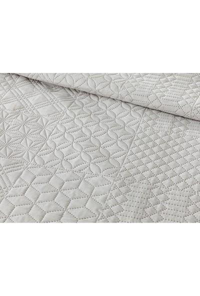 English Home Crystal Pacth Çift Kişilik Çok Amaçlı Yatak Örtüsü 200X220 cm Gri