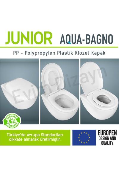 Aqua Bagno Junıor - Çocuk Adaptörlü - Yavaş Kapanan Klozet Kapağı