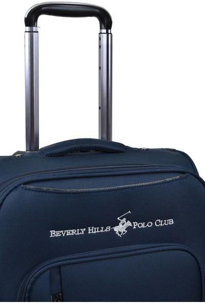 Beverly Hills Polo Club Büyük Boy Kumaş Valiz Lacivert