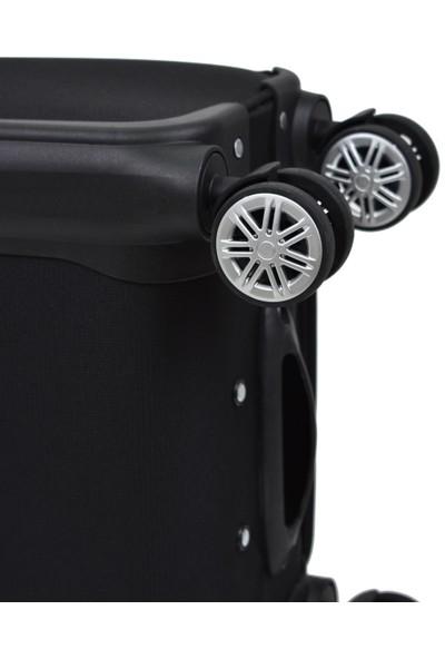 Beverly Hills Polo Club Orta Boy Kumaş Valiz Siyah