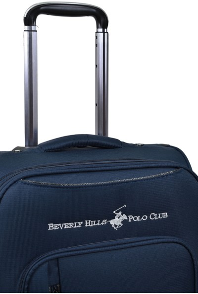 Beverly Hills Polo Club Orta Boy Kumaş Valiz Lacivert