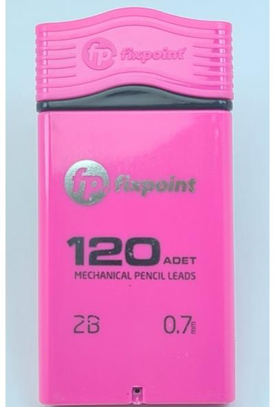 Fixpoint Versatil Kalem Ucu 120'LI Uç 0.7 Uç Mekanik Uçlu Kalem Ucu Pembe