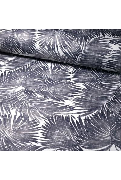 Küçükçalık Füme Palmiye Desenli Duck Kumaşı