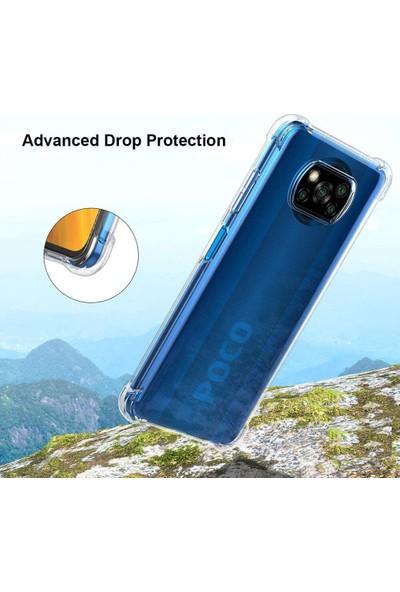 Zengin Çarşım Poco X3 Nfc - X3 Pro Ultra Ince Şeffaf Airbag Anti Şok Silikon Kılıf
