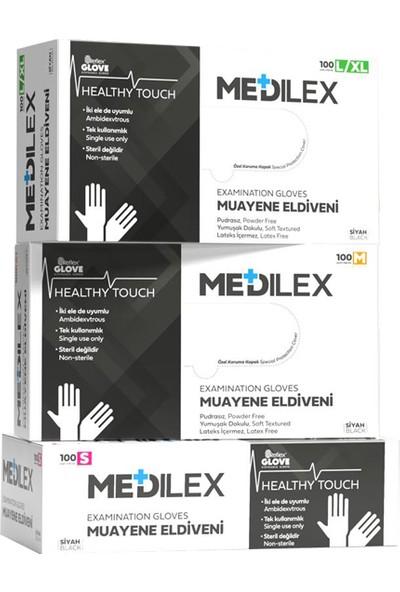 Reflex Medilex Pudrasız Eldiven Siyah L - Xl Beden 100'LÜ