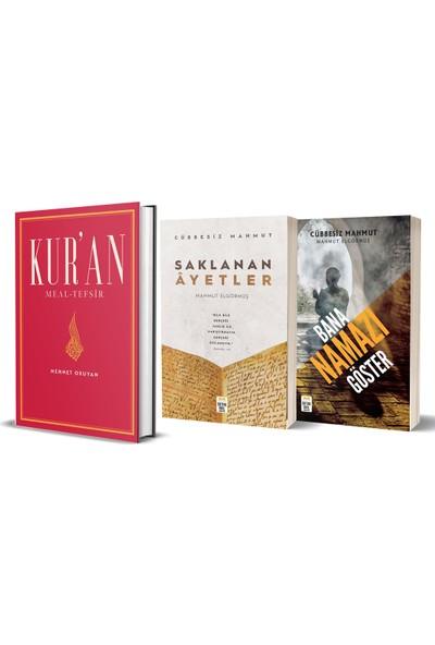 Kur'an Meal - Tefsir Cübbesiz Mahmut (Bana Namazı Göster-Saklanan Ayetler) 3 Kitap Set - Mehmet Okuyan