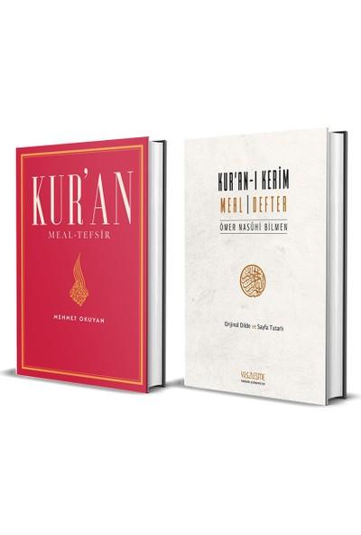 Kur'an Meal-Tefsir & Kur'an-I Kerim Meal Defter 2 Kitap Set -Mehmet Okuyan
