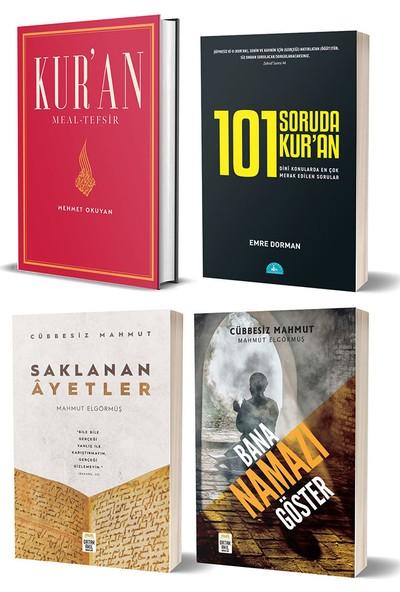 Kur'an Meal-Tefsir & 101 Soruda Kur'an & Saklanan Ayetler & Bana Namazı Göster 4 Kitap Set - Mehmet Okuyan