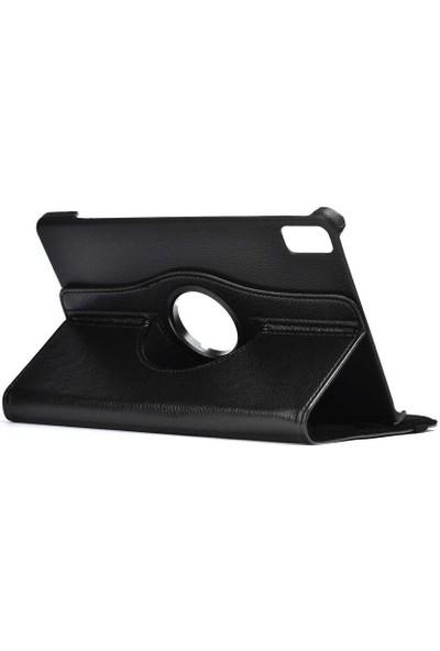 Canpay Huawei Matepad 10.4 Uyumlu Kılıf Standlı 360° Rotatable Pu-Leather Case Siyah