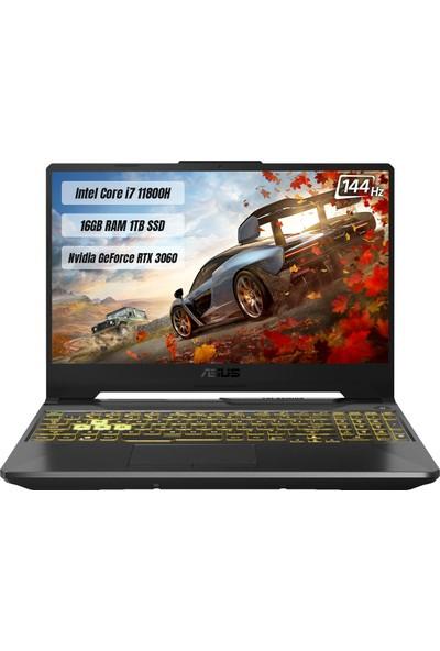 "Asus Tuf Gaming F15 FX506HM-HN045 Intel Core i7-11800H 16 GB 1TB SSD RTX3060 144 Hz Freedos 15.6"" FHD Taşınabilir Bilgisayar"