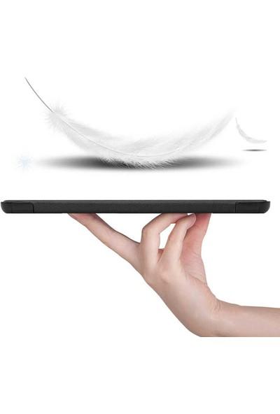 Canpay Huawei Matepad T10 Uyumlu Kılıf Standlı Ön ve Arka Kılıf Canpay Smart Case Gri