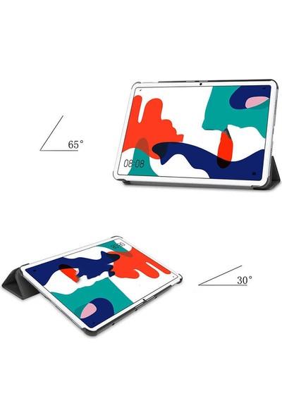 Canpay Huawei Matepad 10.4 Uyumlu Kılıf Standlı Ön ve Arka Kılıf Canpay Smart Case Mavi