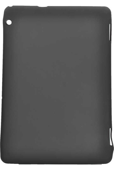 Canpay Huawei T5 10 Inç Uyumlu Kılıf Soft Yumuşak Pürüzsüz Yüzey Silikon Siyah