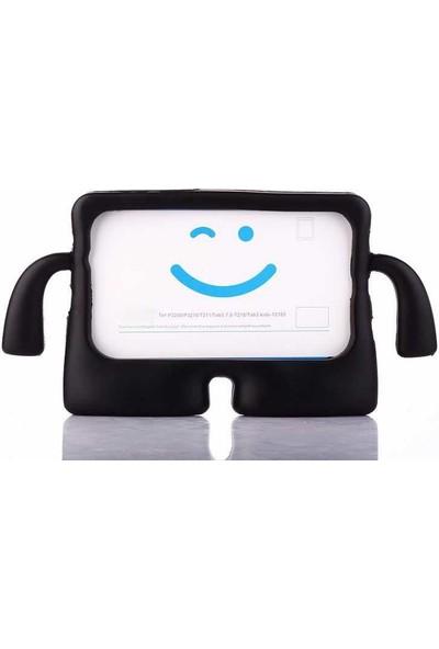 """Canpay Samsung Galaxy T560 (Tab E 9,6"""") Çocuk Tablet Kılıfı Standlı Tutmalı Ultra Korumalı Yeni Siyah"""