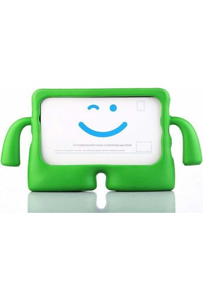 """Canpay Samsung Galaxy T560 (Tab E 9,6"""") Çocuk Tablet Kılıfı Standlı Tutmalı Ultra Korumalı Yeni Yeşil"""