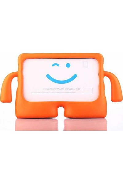 """Canpay Samsung Galaxy T580 (Tab A 10.1"""") Çocuk Tablet Kılıfı Standlı Tutmalı Ultra Korumalı Turuncu"""