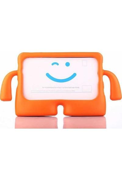 Canpay Samsung Galaxy T510 Çocuk Tablet Kılıfı Standlı Tutmalı Ultra Korumalı Yeni Case Turuncu