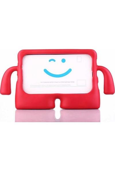 Canpay Samsung Galaxy P610 (S6 Lite) Çocuk Tablet Kılıfı Standlı Tutmalı Ultra Korumalı Case Kırmızı