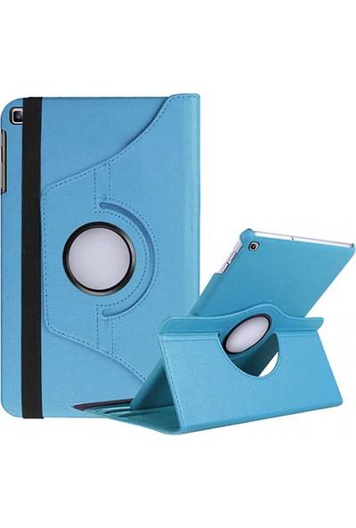 Canpay Samsung Galaxy P610 Uyumlu Kılıf (Tab S6 Lite) Standlı Pu-Leather Desing Mavi
