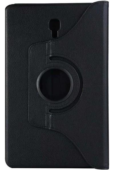 Canpay Samsung Galaxy T590 Uyumlu Kılıf Standlı Pu-Leather Desing Siyah