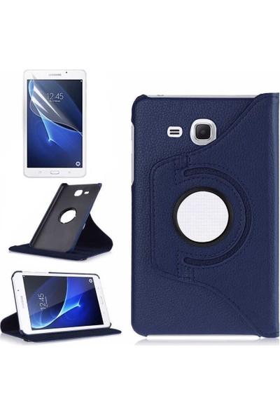 Canpay Samsung Galaxy T830 Uyumlu Kılıf (Tab S4) Standlı Pu-Leather Desing Lacivert
